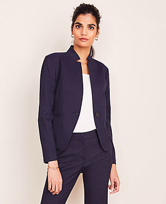 Ann Taylor The Petite Notched Blazer in Pindot