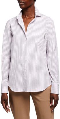 Brunello Cucinelli Striped Cotton Poplin Shirt