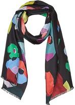 Kate Spade Floral Collage Oblong Scarf (Black) Scarves
