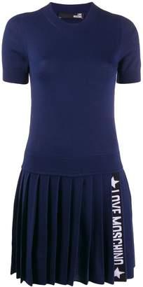 Love Moschino knitted logo stripe dress
