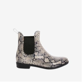 Joe Fresh Women's Print Chelsea Rain Boots, Oatmeal (Size 6)