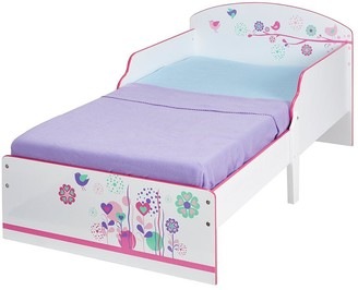 Hello Home Flowers and Birds Toddler Bed by HelloHome