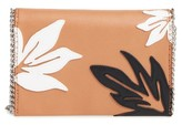 Chelsea28 Tropical Applique Chain Clutch - Brown