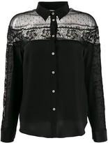RED Valentino crochet panel long-sleeved blouse