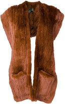 Yves Salomon backless gilet - women - Rabbit Fur - One Size