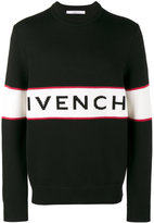 Givenchy logo intarsia knitted jumper