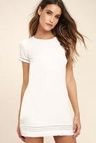 LuLu*s Perfect Time White Shift Dress