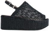 Robert Clergerie crochet mesh sandals - women - Cotton/Leather/rubber - 37