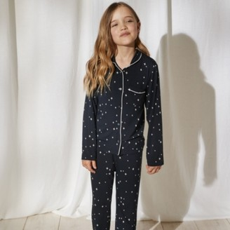 The White Company Classic Star-Print Pyjamas (1-12yrs), Navy, 4-5yrs