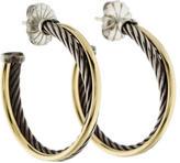 David Yurman Two-Tone Classic Cable Hoops