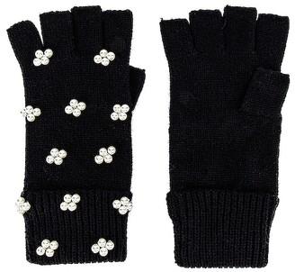 Lele Sadoughi Pearl Cluster Fingerless Gloves