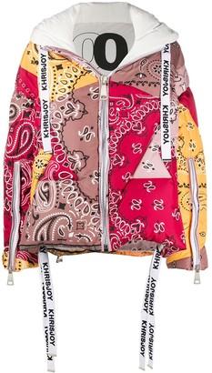 KHRISJOY Bandana-Print Puffer Jacket