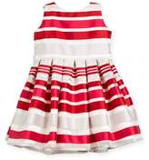 Helena Satin Stripe Dress, Size 2-6