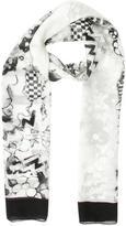 John Galliano Abstract Printed Scarf