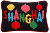 Jonathan Adler Handmade Jet Set Shanghai Needlepoint Pillow Cover