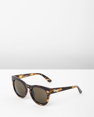 Le Specs Women's Brown Round - Jealous Games Round Tort Sunglasses - Size One Size at The Iconic
