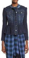 Rebecca Taylor Denim & Tweed Jacket, Violet Stone Combo