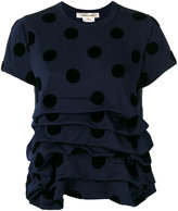 Comme des Garcons ruffled T-shirt - women - Polyester - S