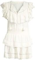 LoveShackFancy Liv Tier Ruffle A-Line Tunic Dress