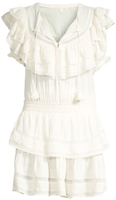 LoveShackFancy Liv Tier Ruffle A-Line Tunic Dress