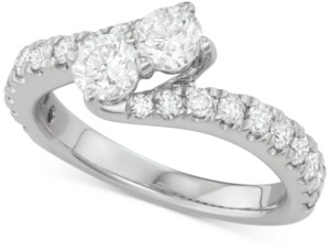 Two Souls, One Love Diamond Bypass Engagement Ring (1-1/2 ct. t.w.) in 14k White Gold