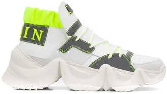 Philipp Plein High-Top Colour Block Sneakers
