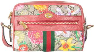 Gucci Floral Printed Top Zip Camera Bag
