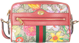 Gucci Floral Printed Top Zip Camera Bag
