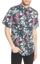 Ezekiel Men's Floral Print Woven Shirt