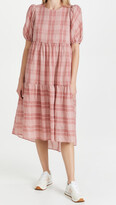 Thumbnail for your product : ENGLISH FACTORY Plaid Midi Dress