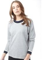 Jacqueline De Yong Womens Dusty Sweatshirt Light Grey Melange