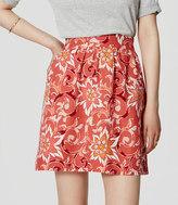 LOFT Tall Fiesta Floral Stroll Skirt