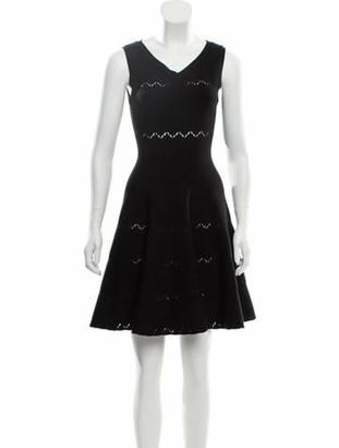 Alaia Wool Fit & Flare Dress w/ Tags Black