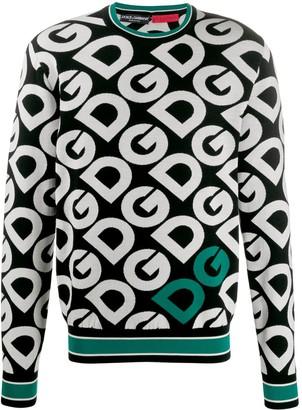 Dolce & Gabbana Monogram Patterned Jumper