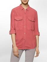 Calvin Klein Garment Dyed Utility Shirt