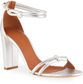 Malone Souliers Fenn Tubular 85mm Metallic Ankle-Strap Sandals