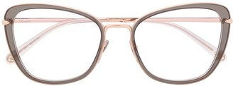 Pomellato Eyewear Two Tone Cat-Eye Frame Glasses
