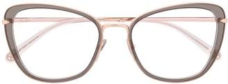 Cat Eye Two Tone Cat-Eye Frame Glasses