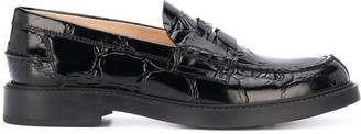 Tod's Creased-Effect Low-Heel Loafers