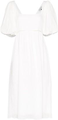 Masterpeace Puff-Sleeve Midi Dress