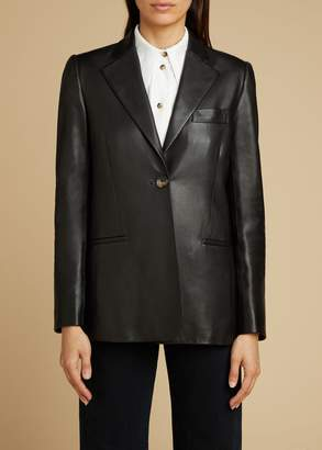 KHAITE The Vera Blazer in Black Leather