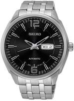 Seiko Men's Stainless Steel Mechanical Watch, 45mm