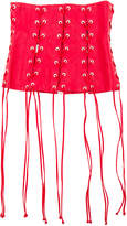 Unravel Leather All Over Lace Up Corset