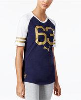 Puma Cotton Metallic Colorblocked Tunic