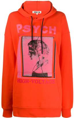 McQ oversized 'psych' hoodie