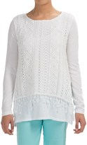 XCVI Hearst Crochet-Overlay Shirt - Long Sleeve (For Women)