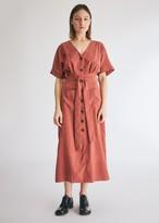 Need Short Sleeve Fredela Dress in Mauve