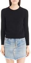 Saint Laurent Women's Lace Back Sweater