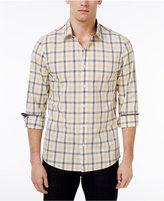Michael Kors Men's Brody Slim-Fit Plaid Cotton Shirt