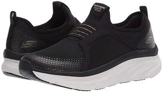 Skechers D'Lux Walker (Black/Gold) Women's Shoes